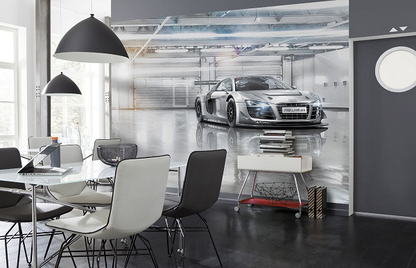 Audi Car kids room wallpapers